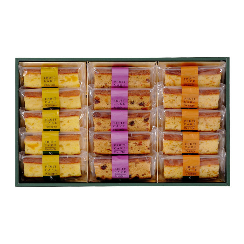 フルーツケーキ15個化粧箱入