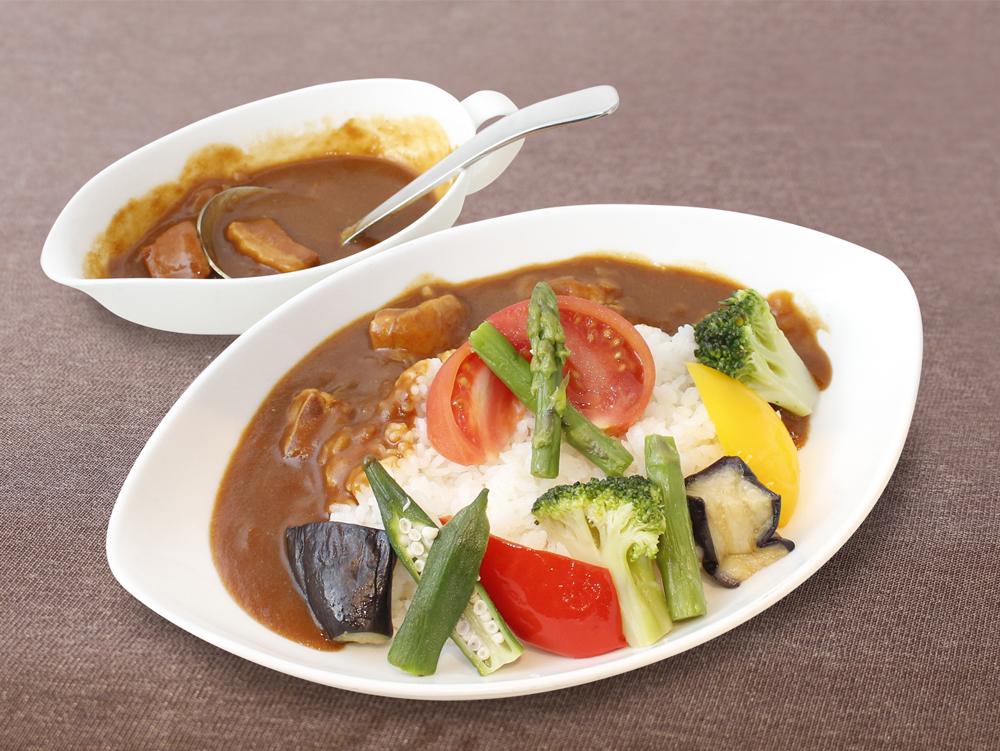 彩り野菜のマンコ゛ーカレーライス