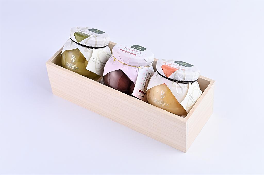 日本橋美人 イチジクジェリー、 収穫の恵み プレミアムジェリー詰合 桐箱入
